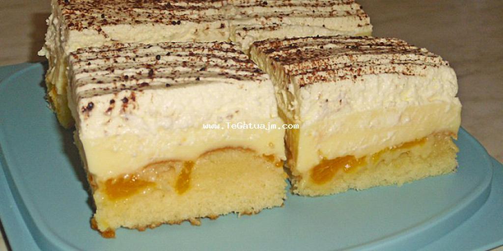 Torte me fanta,schmand,puding dhe mandarina