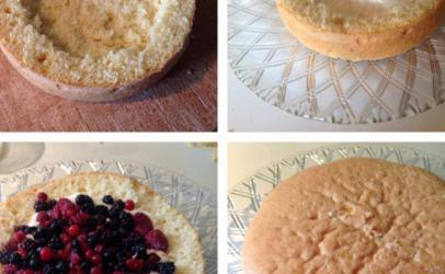 Torta me filadelfia dhe fruta boskot .