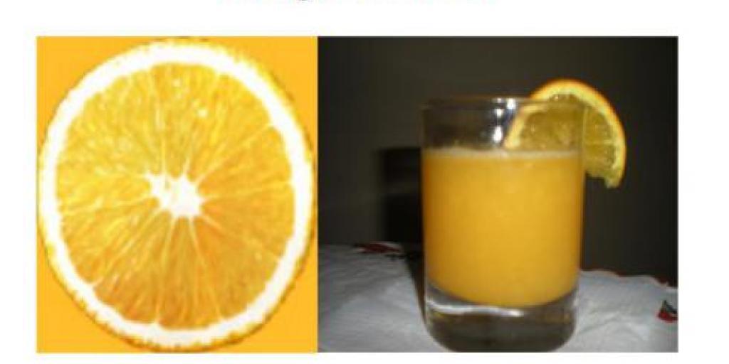 Fillo ditën me lëng nga portokalli