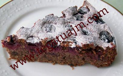Torte e thjesht me çokolate dhe qershia(vishnje )