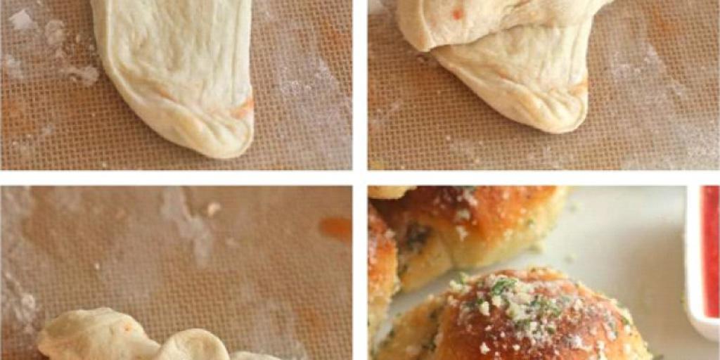 Kroassant me parmesan dhe hudher