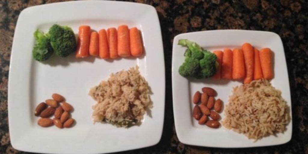 Pse është më mirë të hani prej pjatave më të mëdha