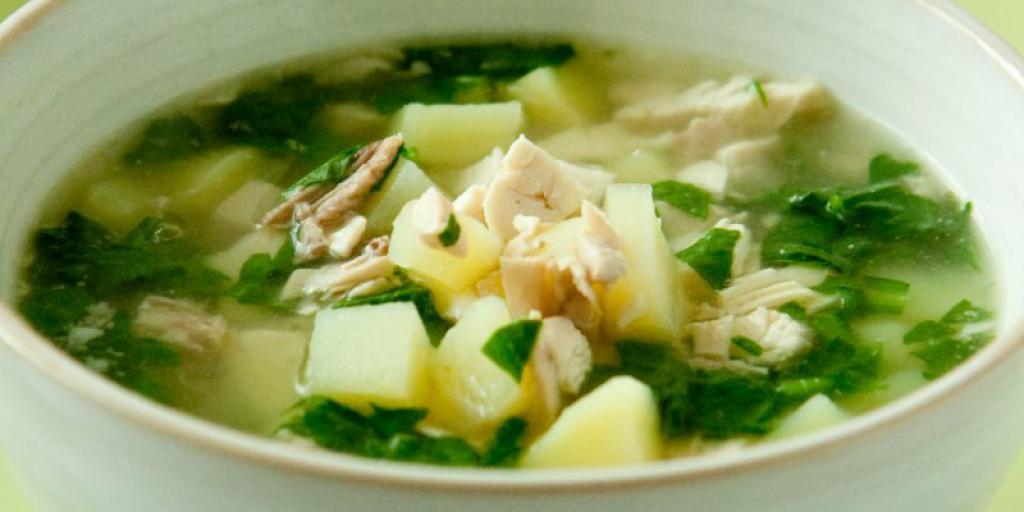Supë me fide dhe spinaqë