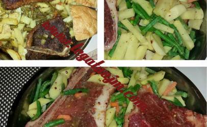 Patate me bishtaja dhe bërcollë viçi nga tegatuajm