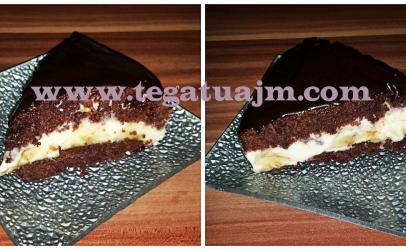 Torte e shpejt me banane,puding,kakao dhe çokolate ne kushte shtepie