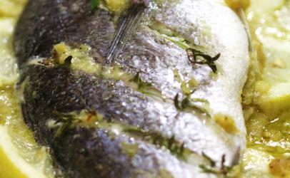 Peshku i pjekur ne furre