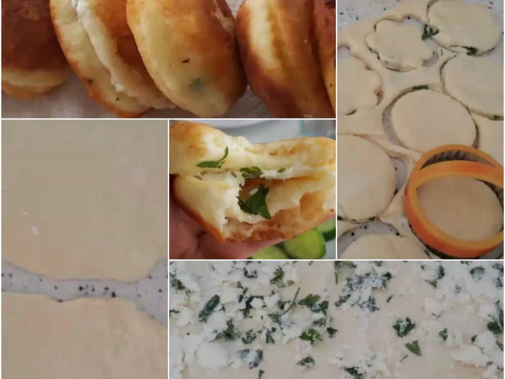 Kofneve (petulla) te mbushura me djathe dhe spinaqe