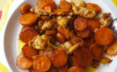 Gjelle (qorbe) me karota dhe gjoks pule