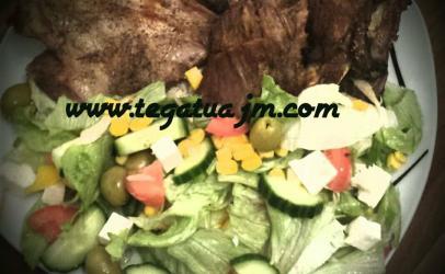 Mishë qengji dhe salate mikse nga TeGatuajm