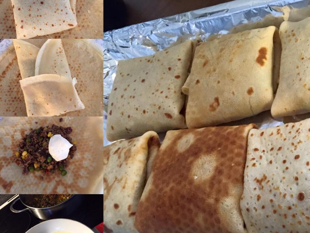 Pallaqinka(krepa) te mbushura me mishe ne furre