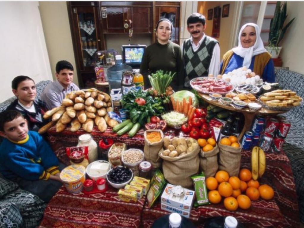 Sa shpenzojnë familjet në botë, për një javë në ushqime