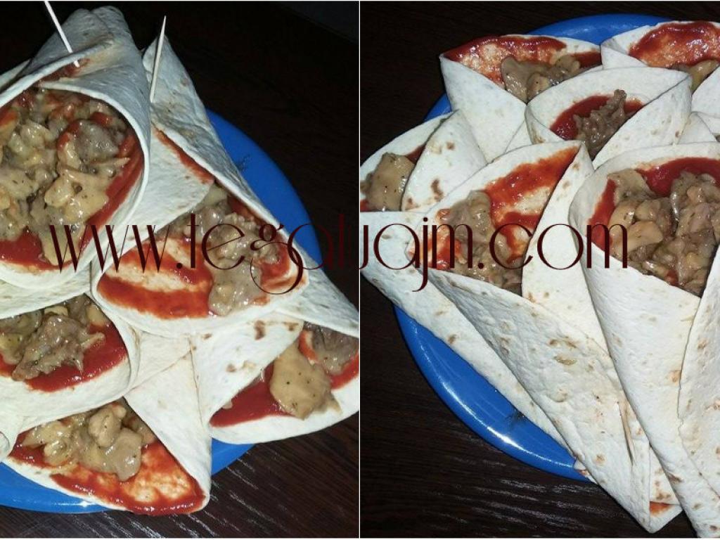 Tortilla te mbushura nga Gjyle Laçaj-Kajdomqaj.