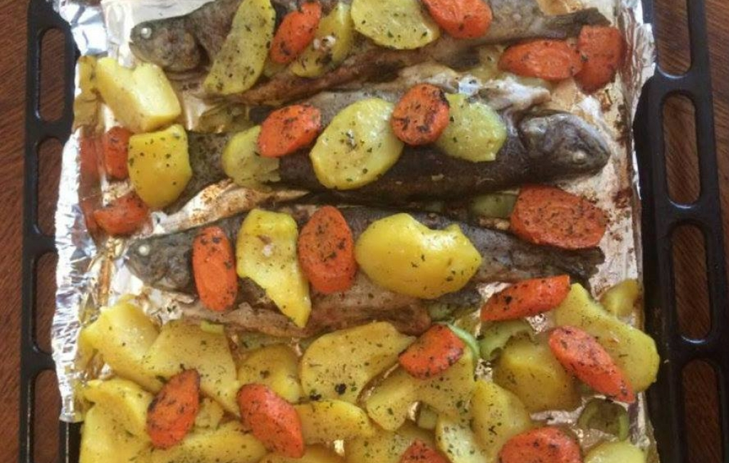 Peshqi me perime ne furre