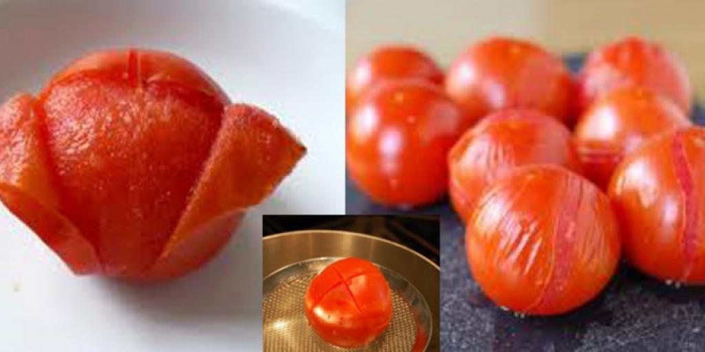 Heqja e lëkurës së domateve