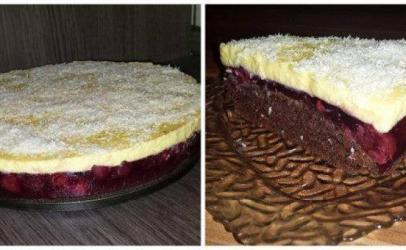 Torte me puding nga qershiat nga tegatuajm