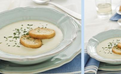 Supë kremë me presh dhe patate