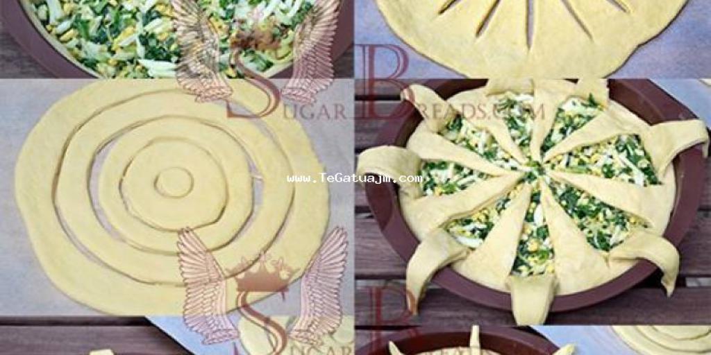 Pite me qepë ,djathë (gjizë) dhe spinaqë