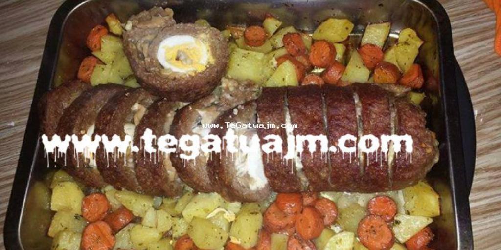 Rolad  mishi  me veze dhe patate