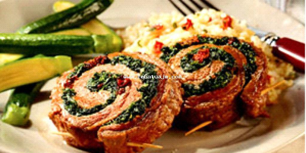 Biftek lope me spinaç role