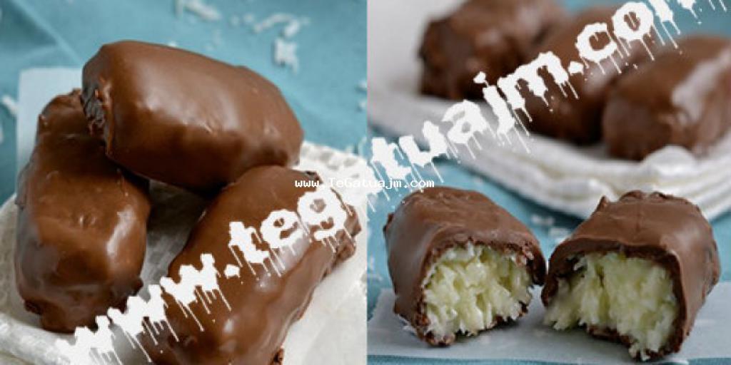 Ëmbëlsirë me arrë kokosi dhe çokollatë(Baunty)