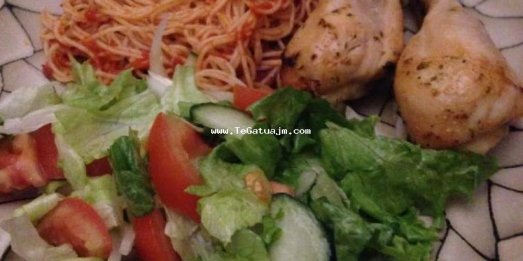 Kofsha me shpageta dhe sallat