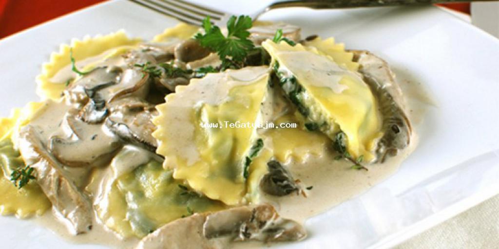 Ravioli me djathë e kërpudha