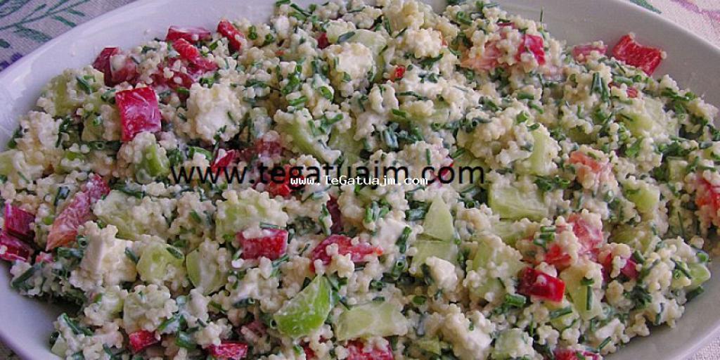 Salat me kus kus (Couscous) dhe salce jogurti